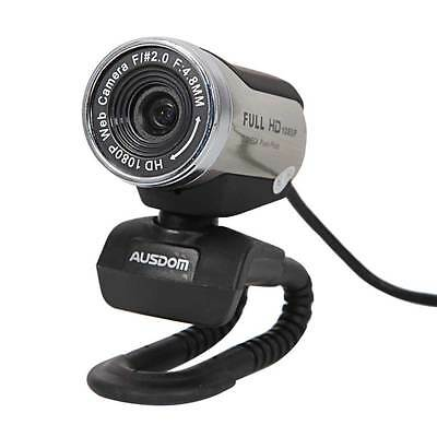 AUSDOM AW615 1080P Full HD 12.0M USB2.0 Webcam Video Camera w/Mic for PC Laptops