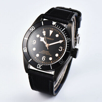 44mm PARNIS Black Dial Sapphire Luminous GMT Automatic Mechanical men's Watches