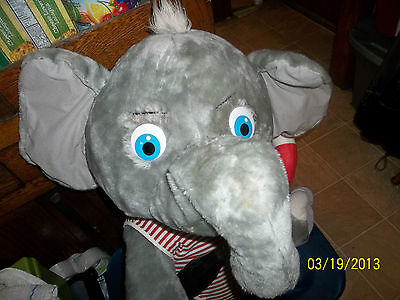 "Advertising Coca Cola Coke 28"" Grey Gray Elephant Plush In Swimsuit Lifeguard"
