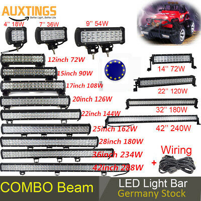 42'' 20'' 120W 126W 144W 240W Led Work Light Bar Spot Flood for Jeep SUV Boat EU