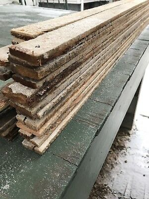 14 pcs Vintage  4' Old  Wood Plaster Lathe Reclaimed Board 100 Year Old House