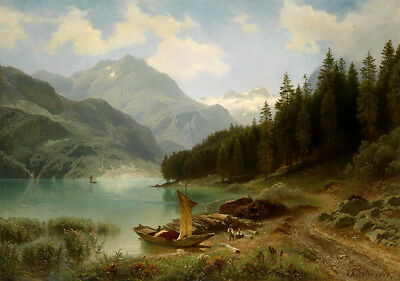 Modern Classical Realism Landscape Oil Painting Canvas Print Wall Art Home Decor
