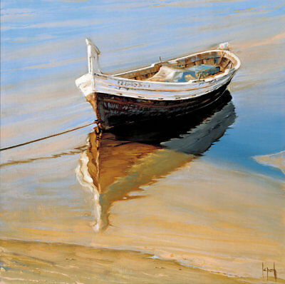 Modern Classical Boat Seascapes Abstract Oil Painting Canvas Print Wall Art Deco