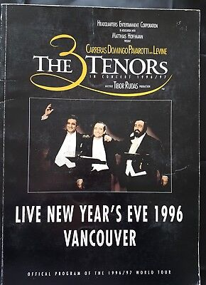 The 3 Tenors in Concert 1996/97 Official Program Vancouver - Live New Years Eve