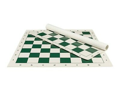 Standard Tournament Leatherette chessboard GREEN - rollup chess board - 2,25""