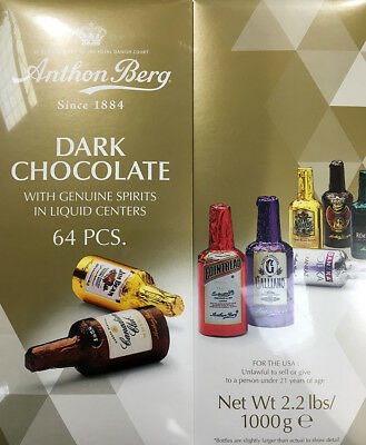 Anthon Berg 64pcs Liquor Filled Dark Chocolate Gift Box 1kg