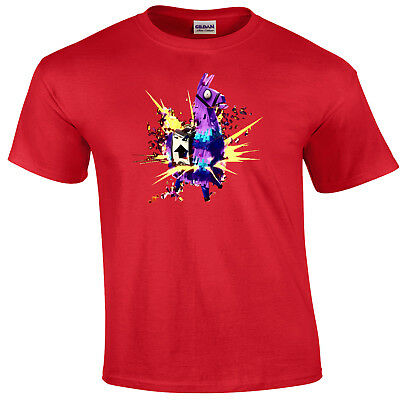 Childs T Shirt - Fortnite - Exploding Llama Pinata - Many Sizes & Colors