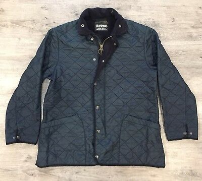 Men's Barbour Jacket Quilted Nylon Navy Size M