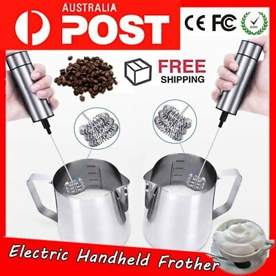Electric Handheld Milk Frother Egg Beater Cappuccinos Coffee Foamer Whisk ToolKF