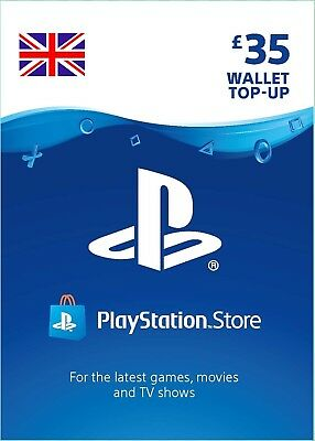UK PSN Network Card 35£ GBP - 35 Pounds Playstation Prepaid Key PS3 PS4 PSP Vita