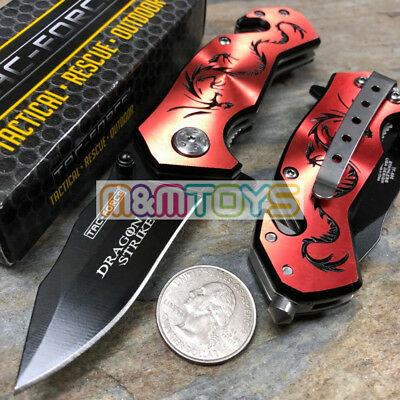 TAC-FORCE Black Dragon Small Rescue Survival Pocket Knife TF-686RB