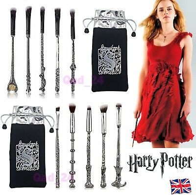 5pcs Harry Potter Makeup Brushes Magic Wand Metal Eye Pencil Wizard Gift Set