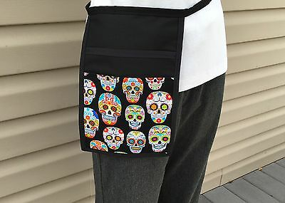 Black Skulls Hip Apron Waitress Bar Server Restaurant Classyaprons