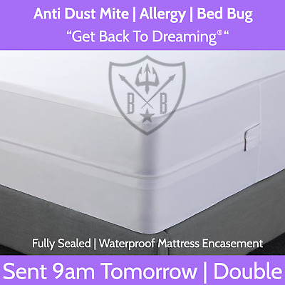 Double Size, Bed Bug, Dust Mite, Allergy, Mattress Protector & Cover Australia