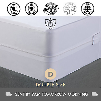 Double Size, Bed Bug, Dust Mite, Mattress Protector & Cover, Hypoallergenic
