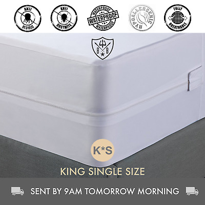 King Single, Bed Bug, Dust Mite, Mattress Protector & Cover, Hypoallergenic
