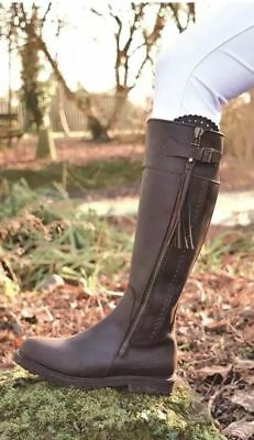 Mark Todd Masterton Tall Boot - Horse Riding Yard Walking - Cognac - Select Size