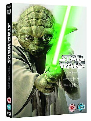 Star Wars The Prequel Trilogy Films 1 2, 3 Episodes I-III NEW DVD 5039036063050