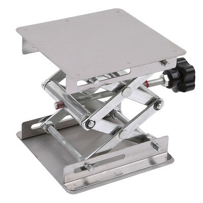 Stainless Steel Lab Stand Table Scissor Lift laboratory Jiffy Jack 100*100mm