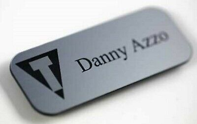 Engraved Personalised Name Badges For Shops, Hotels, Work, Clubs, School Acrylic