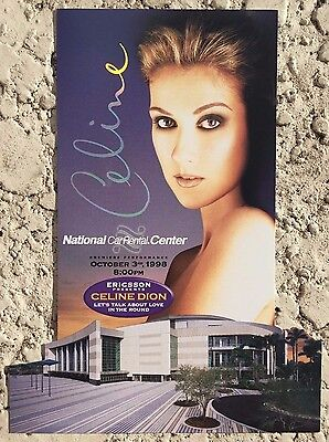 Celine Dion Rare Collectible Card Stadium Giveaway Lets Talk About Love Tour 98