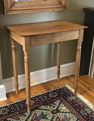 Antique English Pine Side Table