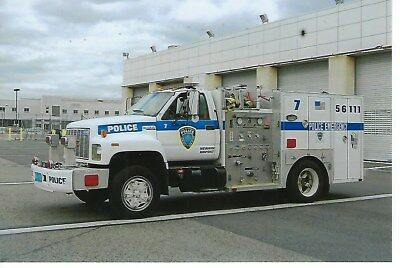 Port Authority Police Of New York/new Jersey Unit 56111 4X6 Color Photo ~ Gmc
