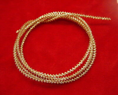Authentic Steifkantille Tinsel Wire From Germany Gold Tone 3Mm