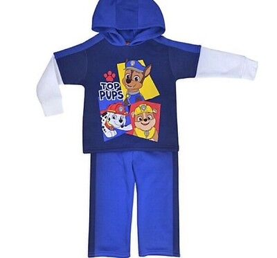 Paw Patrol 2 PC Blue Hoodie Sweatsuit Set ~ Size 3 or 4 ~ New