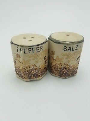 Antique German 'Pfeffer and Salz' Salt and Pepper Shakers
