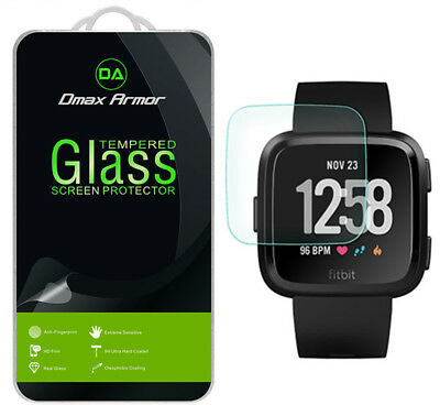 [3-Pack] Dmax Armor Fitbit Versa Tempered Glass Screen Protector