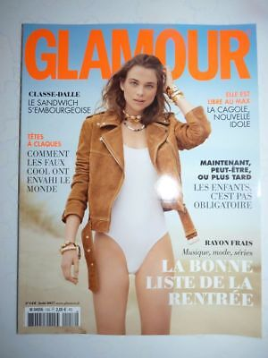 Magazine revue mode fashion GLAMOUR french #158 aout 2017