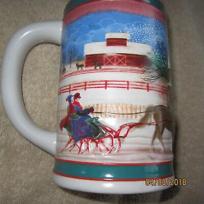 1985 Miller High Life Christmas Holiday Stein