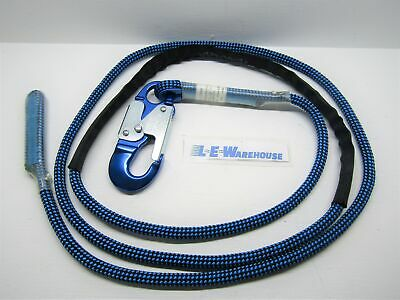 "7/16"" x 10' FINISH LINE 32 STRAND LANYARD W/ DOUBLE LOCKING ALUMINUM SNAP HOOK"
