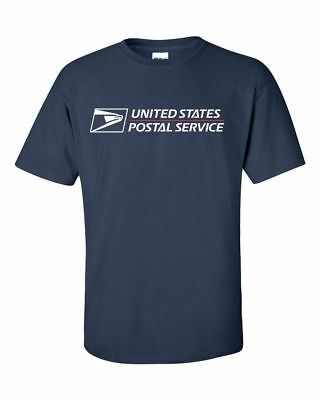 Usps Postal T-Shirt Dark Navy Full 2 Color Postal Logo On Chest All Sizes S - 3X