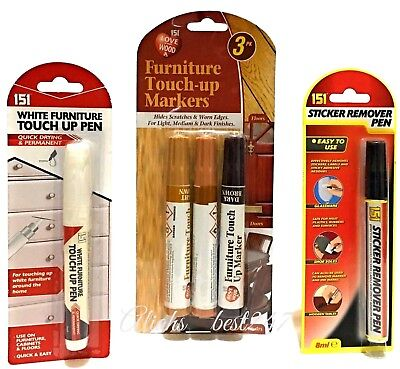 Furniture Touch Up Pen Repair Laminate Wood Furniture and Sticker Remover Pen.