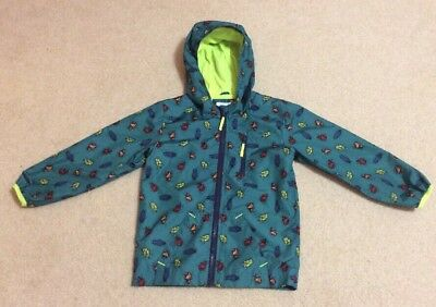 Cat & Jack Girls/boys Green W/beetles Hooded Rain Jacket Size 5T Gc!