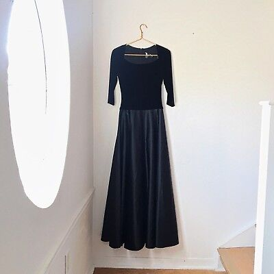 JS Collections Black 3/4 Sleeve Formal Evening Gown Size 4 Modest Dress Maxi