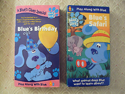 Lot 2 Blues Clues Vhs Blues Birthday And Blues Safari In Boxes