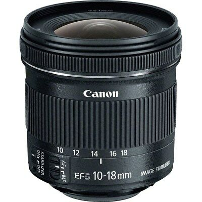 Canon EF-S 10-18mm f/4.5-5.6 IS STM Lens (Retail Box) ZF