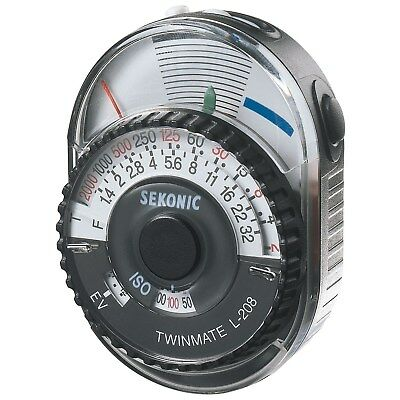 Sekonic L-208 Twin Mate Analog Incident, Reflected Light Meter (CE Version) ZF