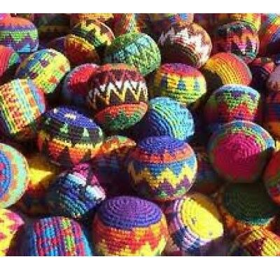 New Hacky sacks Magic Fun Juggling balls Footbag Stress balls Handmade Ethical
