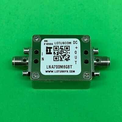 Broadband Low Noise Amp 0.4dB NF 0.7GHz to 6GHz 20dB Gain with Bias Tee