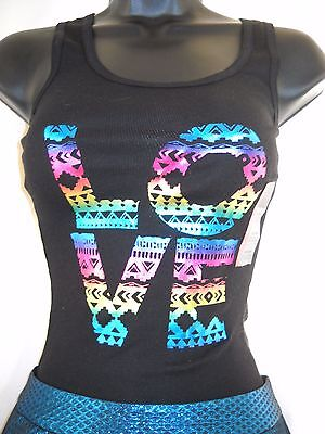 Extra Small Nasty Girl Blue Foil Shorts Nwt / Aztec  Love Foil Tank