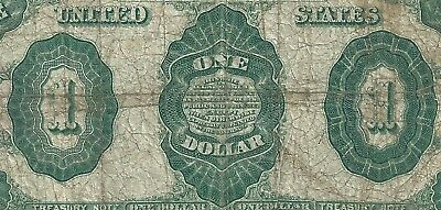 1891 $1 Treasury Note <<< Cheap >>>  127 Years Old---- Antique $1 Dollar Bill