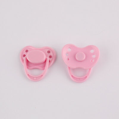 Dummy Pacifier For Reborn Baby Dolls Accessories With Internal Magnetic Pink