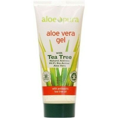 Aloe Pura Aloe Vera Gel + Tea Tree 200ml X 3 (Pack of 3). Best Price