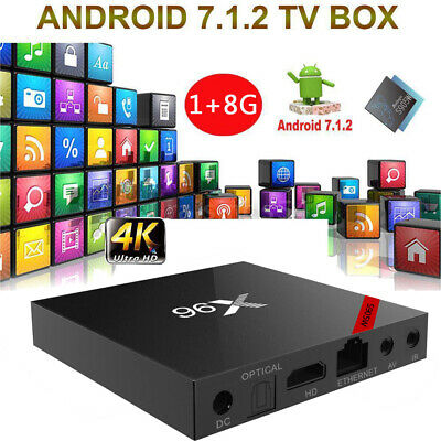 X96 Smart TV Box 8 Go Android 7.1 DLNA WiFi Media Amlogic S905W Quad Core H.265