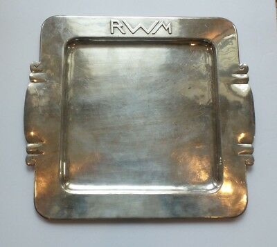 Classic Dirk Van Erp Silver Plate Arts & Crafts Tray, Signed, c. 1908-1929