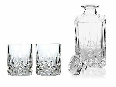 NEW VISKI ADMIRAL CRYSTAL DECANTER SET GLASSES Lead Free Alcohol Scotch Whisky